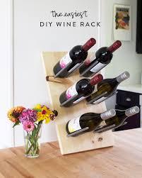 the easiest diy wine rack at home in love
