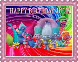 trolls edible cake topper u0026 cupcake toppers u2013 edible prints on