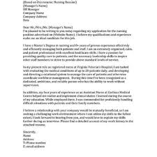 Cover Letter For Rn Sample Cover Letter For Nurses Position