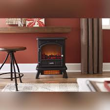 duraflame 500 black infrared freestanding electric fireplace stove