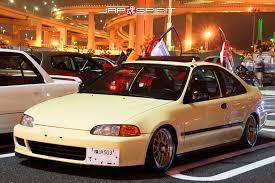 honda civic coupe usdm style cream color low down jap spirit