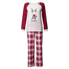 Amazoncom MokoPP Christmas Mommy &Daddy&Me Women Deer Plaid