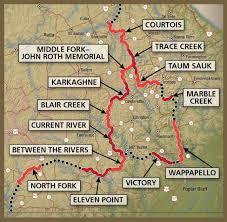 Map Missouri The Ozark Trail In Missouri Maps