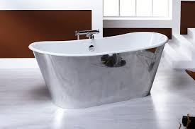 Enameled Steel Bathtubs Free Standing Bathtub Oval Cast Iron Trendy Acier Ou