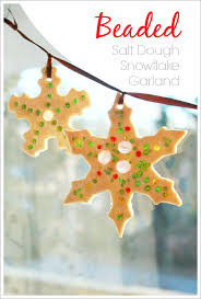 sparkly beaded salt dough ornaments suncatchers and garlands