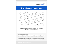 dashed numbers handwriting worksheets 0 20 educate autism