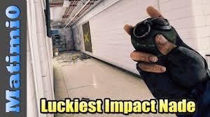 the luckiest impact grenade rainbow six siege youtube