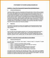 awesome statement of work word template contemporary resume