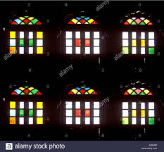 stained glass door windows mak98299 six color colour colorful colourful blue green yellow red