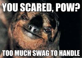 Scared Memes - you scared pow too much swag to handle stevethescarysloth