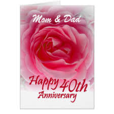 parents 40th anniversary cards invitations greeting photo