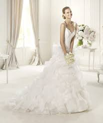 lace bodice with dropped waist pronovias wedding gown get your