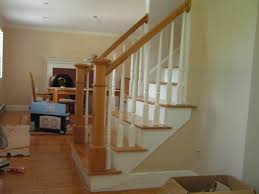 Wooden Stair Banisters Red Oak Stair Tread Railings And Newellposts West Side Flooring