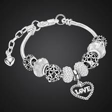 black pandora charm bracelet images Juliet 39 s vow trendy pulseira gift love pendant beads bracelet pandora jpg