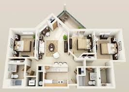 three bedroom apartments floor plans awesome 3 bedroom apartment floor plans photos trend ideas 2018