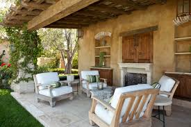 Pottery Barn Patio Furniture Furnitures Awesome Mediterranean Patio Plan Near Clay Center