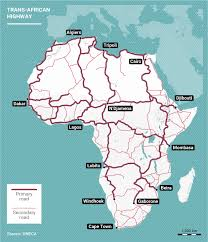 Lagos Africa Map Trans African Highway Nine New Highways Under Construction