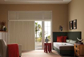 best blinds for sliding glass doors decor deluxe living room decor with pretty white levolor blind