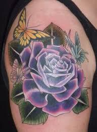 purple rose tattoo tattoo pinterest purple rose