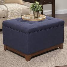 Homepop Storage Ottoman Homepop Navy Chunky Textured Storage Ottoman Free Shipping Today