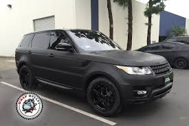 land rover sport 2016 black range rover sport wrapped in 3m deep matte black wrap bullys