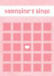 valentine u0027s bingo free printable download makoodle
