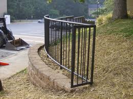 Curved Handrail Hercules Fence Maryland Aluminum Fencing Virginia Aluminum
