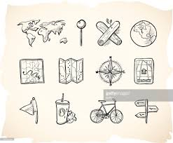 sketch map icons vector art getty images