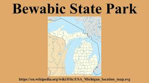 Michigan State Parks Map by Bewabic State Park Youtube