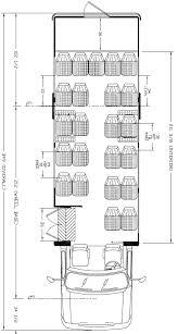 ameritrans 285 shuttle bus floorplans 25 passenger rl