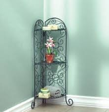 Wrought Iron Bathroom Shelves Wrought Iron Corner Rack Foter