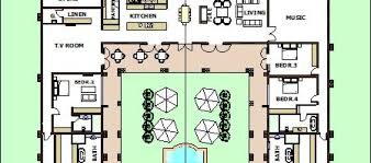 House Plans With Pools by Marvellous U Shaped House Plans With Pool In Middle Pictures
