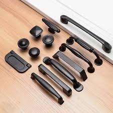 black modern kitchen cabinet pulls 10pcs black modern kitchen cabinet drawer door cupboard knobs pulls handles furniture hardware home improvement 13models wish