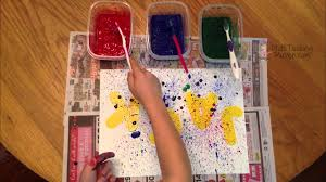 arts and crafts ideas for kids splatter painting youtube