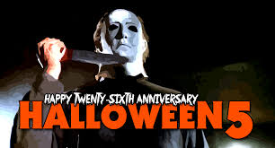 Halloween Michael Myers T Shirts by Happy 26th Anniversary Halloween 5 The Revenge Of Michael Myers