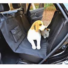 luxury hammock pet car seat cover with 2 pockets waterproof dog