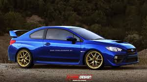 subaru rsti widebody 2015 subaru wrx sti reimagined as a coupe should it be made