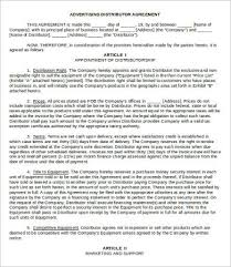 reseller contract template reseller agreement template 9 free word pdf documents