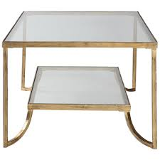 gold leaf coffee table madox modern classic antique gold leaf glass coffee table kathy