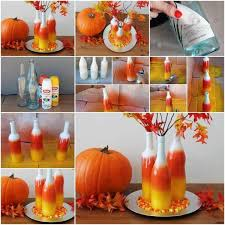 Pinterest Fall Decorations For The Home Diy Colorful Bottles Home Design Garden Architecture
