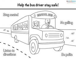 bus safety printables photography bus safety coloring pages at
