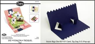 i am not left handed another new pop up die preview zig zag card