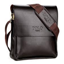 Cover Bag Polo Vintage Designer Brand Bag Pu Leather Cover Mens Travel Bag