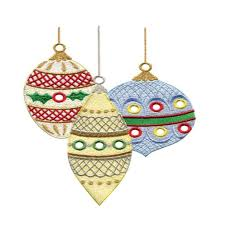merry and bright ornaments embroidery design annthegran
