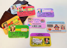 set a boy or pretend drivers license credit cards id