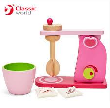 mixer kinderk che klassische welt rosa kinder küche spielzeug holz mixer spielzeug