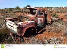 Vintage Ford Truck Australia - broken down truck in west australian outback stock photo image
