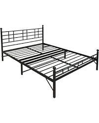 Black Platform Bed Frame Holiday Special Best Price Mattress Model H Easy Set Up Steel