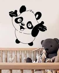 stickers panda chambre bébé bébé panda mignon stickers muraux vinyle sticker nursery