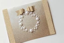 pearl wreath diy christmas card craft ideas